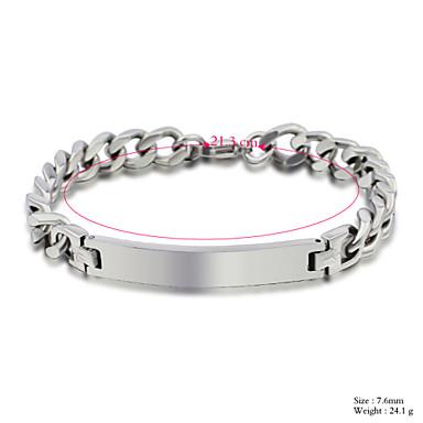 Dames Armbanden met ketting en sluiting Titanium Staal Zilver Sieraden Voor Bruiloft Feest 1 stuks