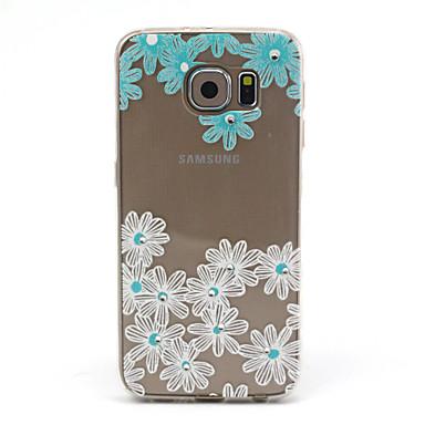 Pouzdro Uyumluluk Samsung Galaxy Samsung Galaxy Kılıf Şeffaf Temalı Arka Kapak Çiçek TPU için S6