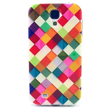 Pouzdro Uyumluluk Samsung Galaxy Samsung Galaxy Kılıf Temalı Arka Kapak Geometrik Desenli TPU için S4