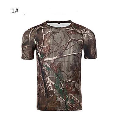 Camouflage jacht T-shirt Unisex waterdicht Sneldrogend Ademend camouflage Slank Klassiek T-shirt Kleding Bovenlichaam Korte mouw voor
