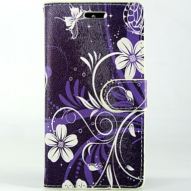 Para Samsung Galaxy Capinhas Carteira / Porta-Cartão / Com Suporte / Flip Capinha Corpo Inteiro Capinha Flor Couro PU Samsung S5 Mini
