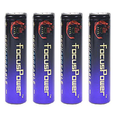 4.2V 10000mAh Wiederaufladbar Li-Ion 18650 Batterie 4 pcs