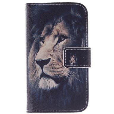 Para Samsung Galaxy Capinhas Porta-Cartão / Com Suporte / Flip / Estampada Capinha Corpo Inteiro Capinha Animal Couro PU SamsungCore