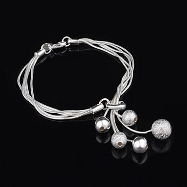 Dames Strand Armbanden Verzilverd Zilver Sieraden Bruiloft Feest Dagelijks Causaal Kostuum juwelen