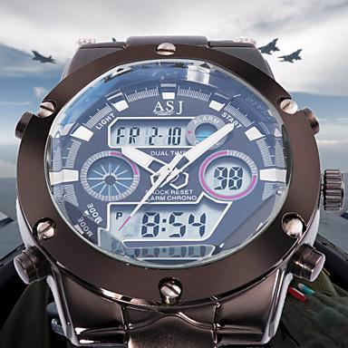 ASJ Homens Relógio de Pulso Japanês Alarme / Calendário / Cronógrafo Aço Inoxidável Banda Luxo / Fashion Prata