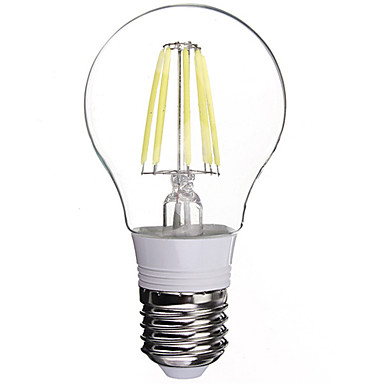 E26/E27 LED-gloeilampen 6 leds Krachtige LED Koel wit 480lm 6000K AC 85-265V