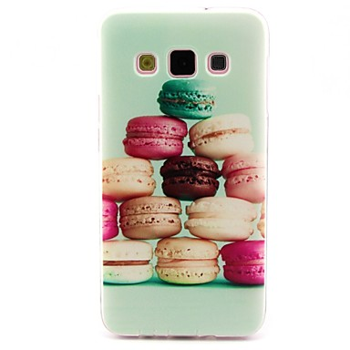 Coco fun® macarons coloridos padrão TPU macio imd tampa da caixa traseira para samsung galaxy a5 / A5000