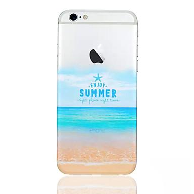 μοτίβο παραλία τηλέφωνο κέλυφος λεπτό υλικό TPU για το iphone 6s συν / 6 συν
