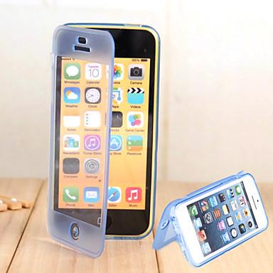 coole gratis contact dunne TPU doorzichtige clamshell telefoon shell voor iphone5c (verschillende kleuren)