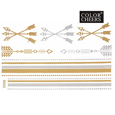 #(1) - #(15x9) - Χρυσό Σειρά Κοσμημάτων - Αυτοκόλλητα Τατουάζ - Μοτίβο - από Χαρτί για Γυναικεία/Girl/Ενήλικες/Εφηβικό