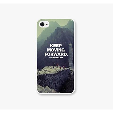 o caso grande cenário parede padrão telefone pc de volta caso capa para iPhone4 / 4s