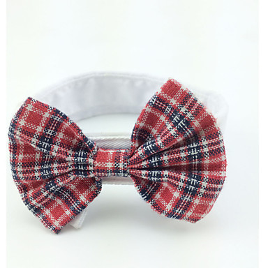 Cat Dog Tie/Bow Tie Dog Clothes Red Cotton Costume For Pets Men's Women's Wedding