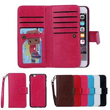 speciale ontwerp van hoge kwaliteit lederen portemonnee geval full body gevallen met standaard voor de iPhone 6 plus