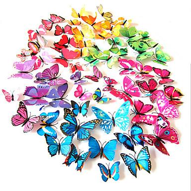 Dieren Muurstickers 3D Muurstickers Decoratieve Muurstickers Lichtknop Stickers Koelkaststickers Bruiloftsstickers, PVC Huisdecoratie
