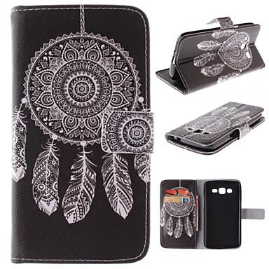 Capinha Para Samsung Galaxy Samsung Galaxy Capinhas Porta-Cartão Com Suporte Flip Estampada Capa Proteção Completa Apanhador de Sonhos PU