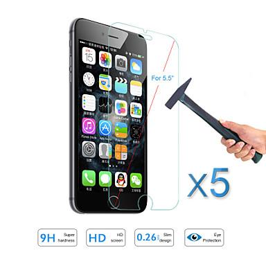 Protetor de Tela Apple para iPhone 6s Plus iPhone 6s iPhone 6 Plus iPhone 6 Vidro Temperado 5 Pças. Protetor de Tela Frontal À prova de