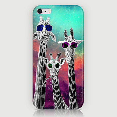 Capinha Para iPhone 5 Capinha iPhone 5 Estampada Capa traseira Animal Rígida PC para iPhone SE / 5s