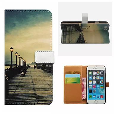 ρετρό κάρτα γέφυρα πορτοφόλι μοτίβο PU θήκη με βάση για iPhone 6