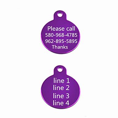 Placas de Identificação - Presente personalizado - Vermelho/Preto/Verde/Azul/Rosa/Púrpura/Dourado/Prateado - de Alumínio