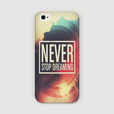 hoesje Voor Apple iPhone 6 iPhone 6 Plus Patroon Achterkant Woord / tekst Hard PC voor iPhone 6s Plus iPhone 6s iPhone 6 Plus iPhone 6