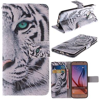 tok Για Samsung Galaxy Samsung Galaxy Θήκη Θήκη καρτών Πορτοφόλι με βάση στήριξης Ανοιγόμενη Πλήρης Θήκη Ζώο PU δέρμα για S6