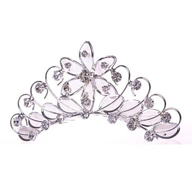 Vrouwen Bloemenmeisje Licht Metaal Net Helm-Bruiloft Speciale gelegenheden Informeel Haarkammen 1 Stuk