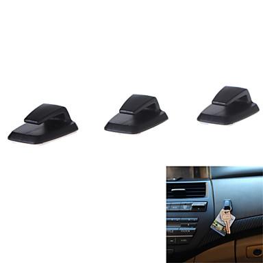 voordelige Auto-organizers-3pcs handige mini zelfklevende abs car haak hanger