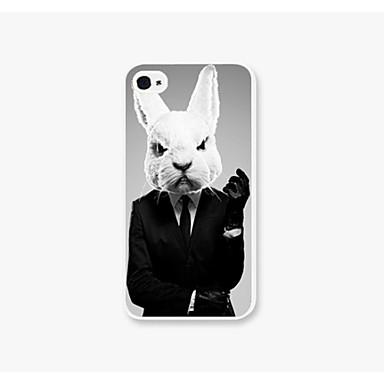 κουνέλι κοστούμι πρότυπο κοστούμι πίσω περίπτωση για iPhone iphone4 / 4s περιπτώσεις