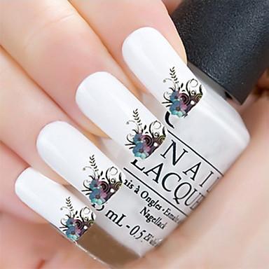 3D-стикеры для ногтей Шаблон шаблона для ногтей Повседневные Цветы Мода Милый Высокое качество