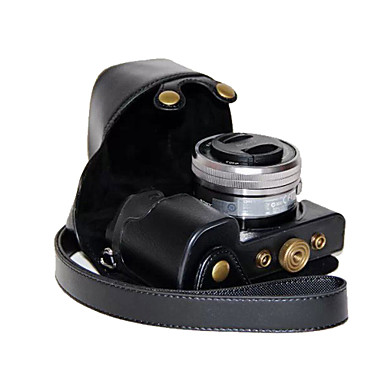 dengpin pu læder kamerataske taske Cover til Sony ilce-6000L ilce-6000 a6000 med 16-50mm linse (assorterede farver)