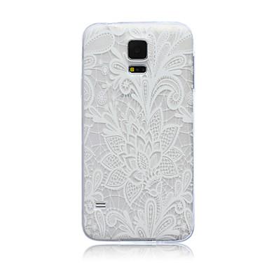 hoesje Voor Samsung Galaxy Samsung Galaxy hoesje Doorzichtig Achterkant Bloem TPU voor S6 edge S6 S5 Mini S5 S4 Mini S4 S3 Mini S3