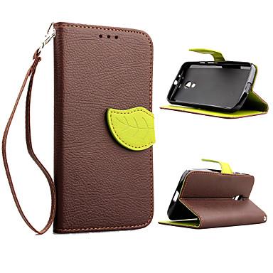 Para Capinha Motorola Carteira / Porta-Cartão / Com Suporte / Flip Capinha Corpo Inteiro Capinha Cor Única Rígida Couro PU Motorola