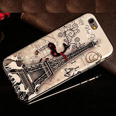 Voor iPhone 5 hoesje Patroon hoesje Achterkantje hoesje Eiffeltoren Zacht TPU voor iPhone SE/5s iPhone 5