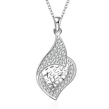 Női Rövid nyakláncok Nyaklánc medálok Függők Szintetikus drágakövek Ezüst Cirkonium Kocka cirkónia Divat Ékszerek Kompatibilitás Esküvő