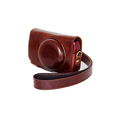 dengpin® pu bolsa de câmera caso couro cubra com alça de ombro para Canon PowerShot SX700 HS sx710 hs (cores sortidas)