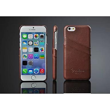 lichia couro originais acenar de volta caso com suporte de cartão para o iphone 6s 6 mais