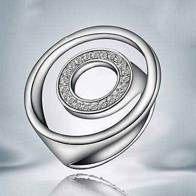 Ringen Feest / Dagelijks Sieraden Koper / Verzilverd Dames Statementringen 1 stuks,7 / 8 Zilver