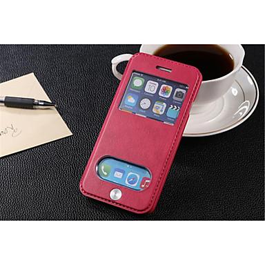 Voor iPhone 8 iPhone 8 Plus iPhone 6 iPhone 6 Plus Hoesje cover Kaarthouder met standaard met venster Flip Volledige behuizing hoesje