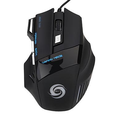USB com fio Mouse para Jogos Óptico 7pcs chaves Luz de respiração conduzida 5 níveis de DPI ajustáveis 1200/1600/2400/3200/5500dpi
