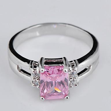 Γυναικεία Band Ring Ροζ Σκούρο πράσινο Ζιρκονίτης Πετράδι Γάμου Πάρτι Καθημερινά Causal Αθλητικά Κοστούμια Κοσμήματα