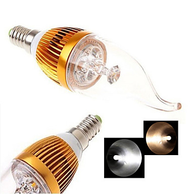 E14 Luzes de LED em Vela 4LED COB 200-300 lm Branco Quente Branco Frio 2800-3500/6000-6500 K AC 85-265 V