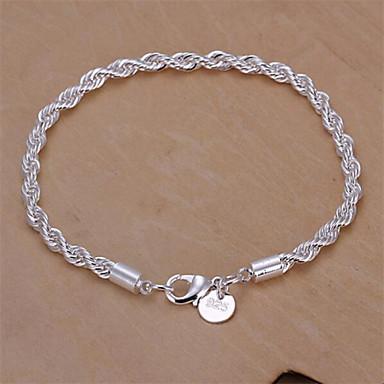 Femme Twist Prince Of Wales Chaînes & Bracelets - Argent sterling Serpent Basique, Mode Bracelet Argent Pour Mariage Soirée Quotidien