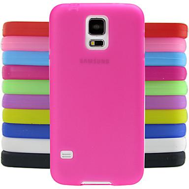 Кейс для Назначение SSamsung Galaxy Кейс для  Samsung Galaxy Защита от удара Кейс на заднюю панель Сплошной цвет Силикон для S5
