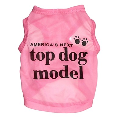 Cat Dog Shirt / T-Shirt Dog Clothes Letter & Number Rose Blue Terylene Costume For Pets Cosplay