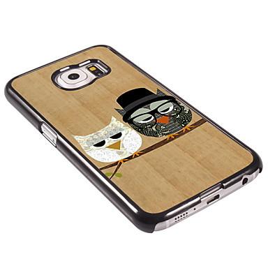 Para Samsung Galaxy Capinhas Case Tampa Estampada Capa Traseira Capinha Corujas PC para Samsung Galaxy S6