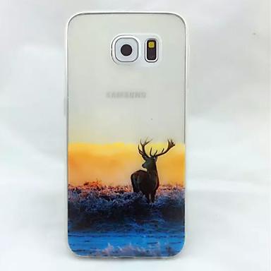 Voor Samsung Galaxy hoesje Hoesje cover Doorzichtig Reliëfopdruk Achterkantje hoesje dier TPU voor Samsung S6
