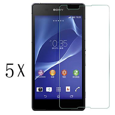 [5-pack] professionele hoge transparantie lcd kristalheldere screen protector met een reinigingsdoekje voor Sony Xperia e4