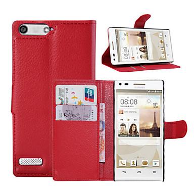 tok Για Άλλο Huawei Θήκη Huawei Θήκη καρτών Πορτοφόλι με βάση στήριξης Ανοιγόμενη Πλήρης Θήκη Συμπαγές Χρώμα Σκληρή PU δέρμα για Huawei