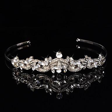 pulseiras de liga de prata esterlina flores coroa de flores estilo elegante cabeça
