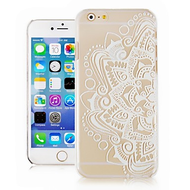hoesje Voor iPhone 6s Plus iPhone 6 Plus iPhone 6s iPhone 6 iPhone 6 iPhone 6 Plus Transparant Patroon Achterkant Lace Printing Hard PC